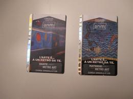 New Novità NAPOLI N.2 Differenti METRO ART Materdei Dante Colorato Used Tickets - Europe