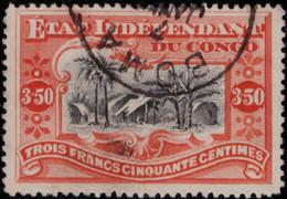 Congo 0027 (o) Mols  3,5F Dentelé Tanding 14 - 14 1/4 - 1894-1923 Mols: Used