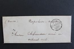 1853 LSC PARIS CAD PORT DÛ 25C 3E /20 POUR NAPOLEON VENDEE (LA ROCHE/YON) CAD ARRIVEE DU 05/03/1853... - 1849-1876: Période Classique
