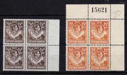 KG VI, UMM, 1938, 4 Blocks Of 4 - Nordrhodesien (...-1963)
