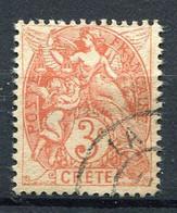 FRANCE ( CRETE ) : Y&T  N°  3  TIMBRE  BIEN  OBLITERE . A  VOIR  . B 30 - Oblitérés