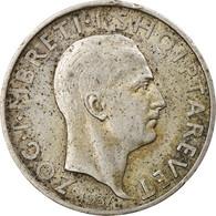Monnaie, Albania, Zog I, Frang Ar, 1935, Rome, TTB, Argent, KM:16 - Albanien
