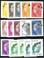 France 2012 - Maxi-Marianne De L'Europe -Etoile D'or - N° 4662A à 4662Q - Cote 150,00 Euros - Ungebraucht