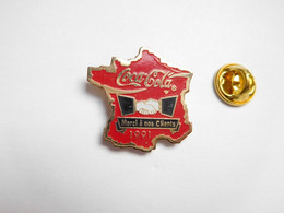 Beau Pin's , Coca Cola , Merci à Nos Clients , Carte De France - Coca-Cola