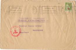 RARE- 50c / 75c PAIX TARIF IMPRIME ETRANGER OBLITERATION MECANIQUE PARIS DONNEZ AU SECOURS NATIONAL 24/07/41 - 1921-1960: Modern Tijdperk