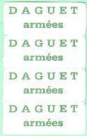 Vignette Daguet - Kriegsausgaben