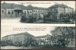 EPERJES 1912. Kaszárnya, Laktanya, Régi Képeslap    , Divald - Hongarije