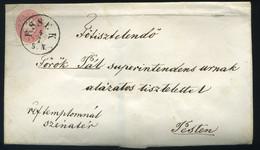 ESSEK / ESZÉK 1865. 5kr-os Levél Pestre Küldve - ...-1867 Voorfilatelie