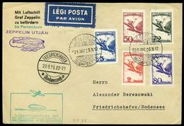 HUNGARY 1931. Zeppelin 1. Südamerikafahrt , Very Nice Airmail Cover To Brazil - Lettere