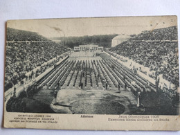 Cpa, Trés Belle Vue Animée, ATHENES, Jeux Olympiques 1908, Exercices Libres Scolaires Au Stade - Greece