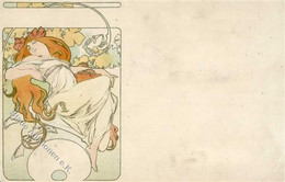 Mucha, A. Frau  Künstlerkarte II (Eckbugu. Abgestoßen) - Mucha, Alphonse