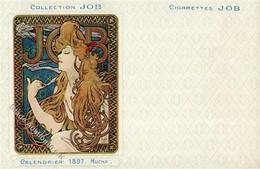 Mucha, Alfons Collection JOB Calendrie 1897 II (kl. Einriss) R! - Mucha, Alphonse