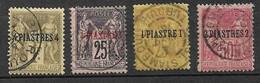 Levant N° 1 à 3 Et 5  Oblitérés    B/ TB     Soldé     Le Moins Cher Du Site  ! ! ! - Used Stamps
