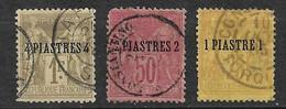 Levant N° 1 ; 3 Et 5  Oblitérés    AB/ TB     Soldé     Le Moins Cher Du Site  ! ! ! - Used Stamps