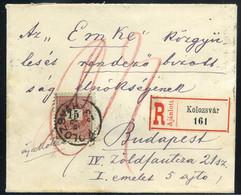 KOLOZSVÁR 1892. Szép Ajánlott Boríték Az EMKE Közgyűlést Rendező Bizottságnak Budapestre - Brieven En Documenten
