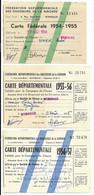 """MOMBRIER-ST-CHRISTOLY-ST-SAVIN-DE-BLAYE (Gironde)-6 Cartes """"PERMIS DE CHASSE"""" 1955/1959...(plis D'usage) - Other"""