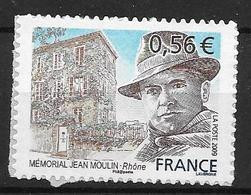France 2009 Timbre Adhésif Neuf** N°340 Jean Moulin Cote 4,00 Euros - Adhésifs (autocollants)