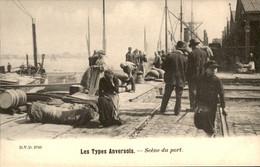 België - Anvers Antwerpen - Les Types Anversois - Scene Du Port - 1900 - Zonder Classificatie