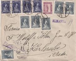 TURQUIE 1930 LETTRE RECOMMANDEE DE ISTANBUL AVEC CACHET ARRIVEE KARLSRUHE - Briefe U. Dokumente
