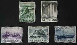 1950 Zomerzegels 551*), 552*), 553*), 554*), 555(*) - Nuovi