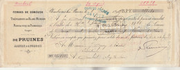 Lettre Change 1899 De PRUINES Maire Forges Semouse Tréfileries Blanc Murger PLOMBIERES Les Bains Vosges Cachet Fiscal - Wissels