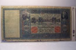 BILLET  - ALLEMAGNE  - 100 MARK  - REICHSBANKNOTE   - ( En L'état )   -  (  NO PAYPAL ) - 100 Mark