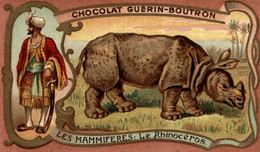 CHROMO CHOCOLAT GUERIN BOUTRON LES MAMMIFERES LE RHINOCEROS - Guerin Boutron