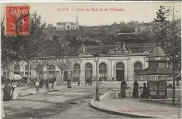 D 47   AGEN    3  Belles Cartes    Gare Du Midi  Boulevard De La Republique - Agen