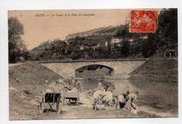 - CPA AGEN (47) - Le Canal Et Le Pont De Courpian 1913 (belle Animation Avec Lavandières) - Photo Neurdein N° 7 - - Agen