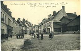 CPA 51 Montmirail Place De L'hotel De Ville 1914 Peu Courante - Montmirail