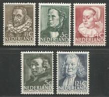 Nederland Pays-Bas Netherlands NVPH 305/09 Complete Set MNH / ** 1938 - Nuevos