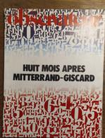 Le Nouvel Observateur N°537_du 27 Janvier Au 2 Février 1975_Huit Mois Après Mitterrand-Giscard - Politics