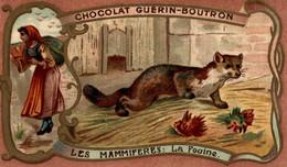 CHROMO CHOCOLAT GUERIN BOUTRON LES MAMMIFERES LA FOUINE - Guerin Boutron
