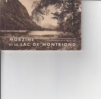 74 MORZINE ET LE LAC DE MONTRIOND  -  CARNET COMPLET DE 12 CARTES  - Ed BRAUN & Cie  - - Morzine