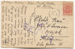 LUBLIN - POLAND, POSTAL STATIONERY Year 1919. TRAVELED TO OSIJEK CROATIA, Seal RETUR - Ganzsachen