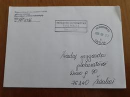 Lithuania Litauen Cover Sent From Pravieniskes To  Siauliai 2009 - Lituania