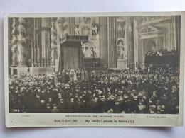 Cpa, Carte Photo, Béatification De Jeanne D'Arc, Rome 19 Avril 1909, Mgr Trouchet Présente Les Pélerins à S.S. - History