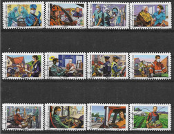 2020 FRANCE Adhesif 1909-20 Oblitérés, Covid, Tous Engagés, Série Complète - Adhésifs (autocollants)