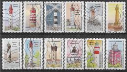 2020 FRANCE Adhesif 1897-908 Oblitérés, Phares, Série Complète - Adhésifs (autocollants)