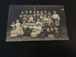 Ancienne Carte Photo : école Gardienne De La Docherie (1912 - Charleroi