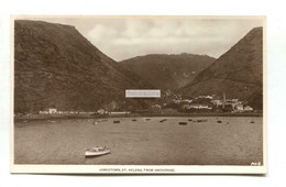 St Helena - Jamestown From Anchorage - Old Real Photo Postcard - Saint Helena Island