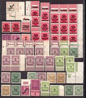 Germany 93 MNH Stamps, Interesting Corners - Neufs