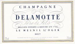Etiquette Champagne DELAMOTTE Le Mesnil Sur Oger / BRUT - Champagne