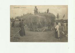 40 - GABARRET - La Fenaison Gros Plan , Attelage Tres Leger Pli Haut Gauche Sinon Bon Voir Scan - Gabarret