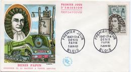 6 Premier Jour N° 1345 à 1350 02/06/1962 Blois, Chaumont,Serres Sur Arget,Dieuze, Dijon, Bordeaux Edition Farcigny - 1960-1969