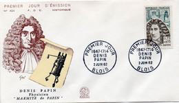 6 Premier Jour N° 1345 à 1350 02/06/1962 Blois, Chaumont,Serres Sur Arget,Dieuze, Dijon, Bordeaux Edition Coq - 1960-1969