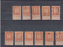 N° 108 Preo Chiffres Louvain , Tournai , Arlon , Brasschaet .. Brasschaat - Typos 1912-14 (Lion)