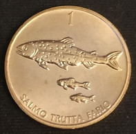 SLOVENIE - SLOVENIA - 1 TOLAR 1992 - Neuve - UNC - KM 4 - ( Truite - Salmo Trutta Fario ) - Slowenien