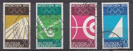 Bund  1969  Mi.nr.: 587-590 Olympische Sommerspiele   Gestempelt / Oblitérés / Used - Gebraucht