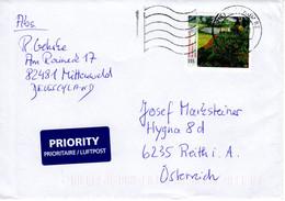 Auslands - Brief Von Briefzentrum 82 Mit 155 Cent Vincent Van Gogh Mohnfeld 2020 - Brieven En Documenten